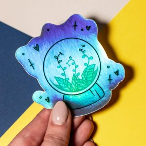 Holographic Sticker of terrarium