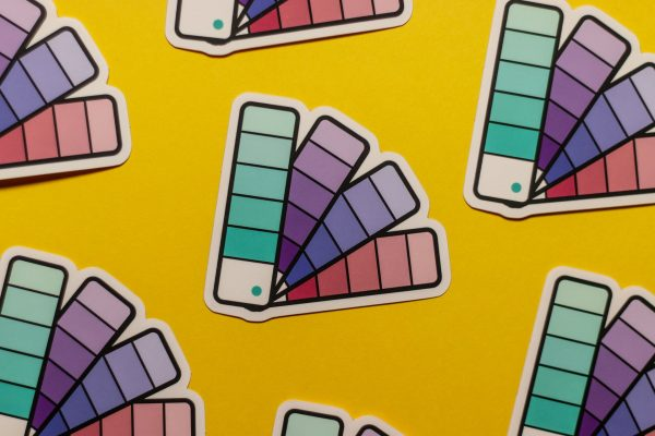 pantone fan book sticker pattern